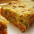 Gâteau quinoa, ricotta et légumes