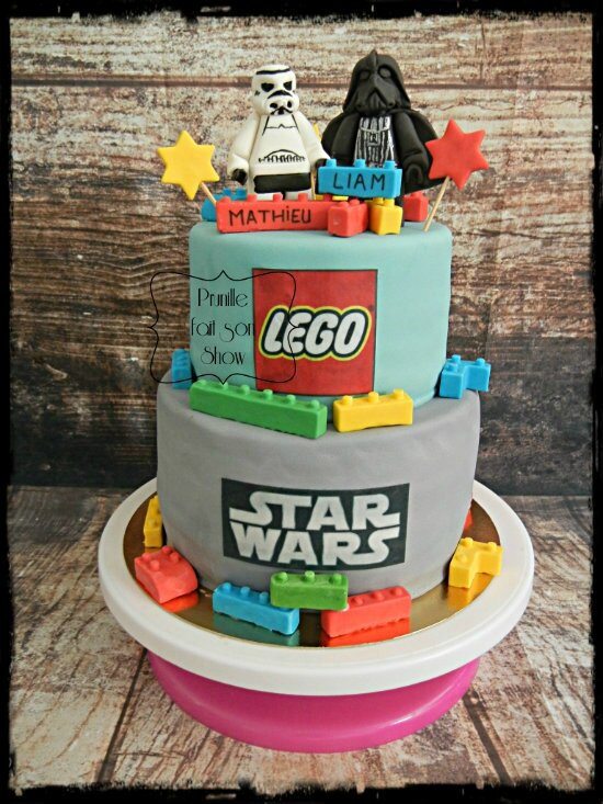 gateau lego star wars prunillefee 1