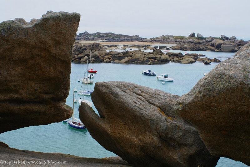 Trégastel vue rochers