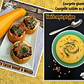 Courgettes (géantes) oubliées au jardin : idée pour cuisiner ....courgette farcie au boeuf & velouté froid de courgettes