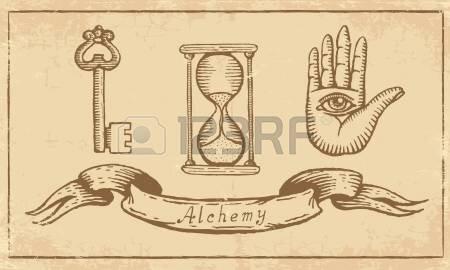 21470026-symboles-alchimiques-magiques-vieux-papier-jaune