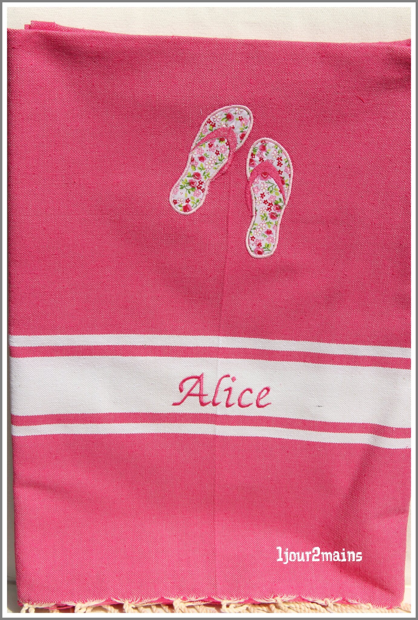 fouta rose alice