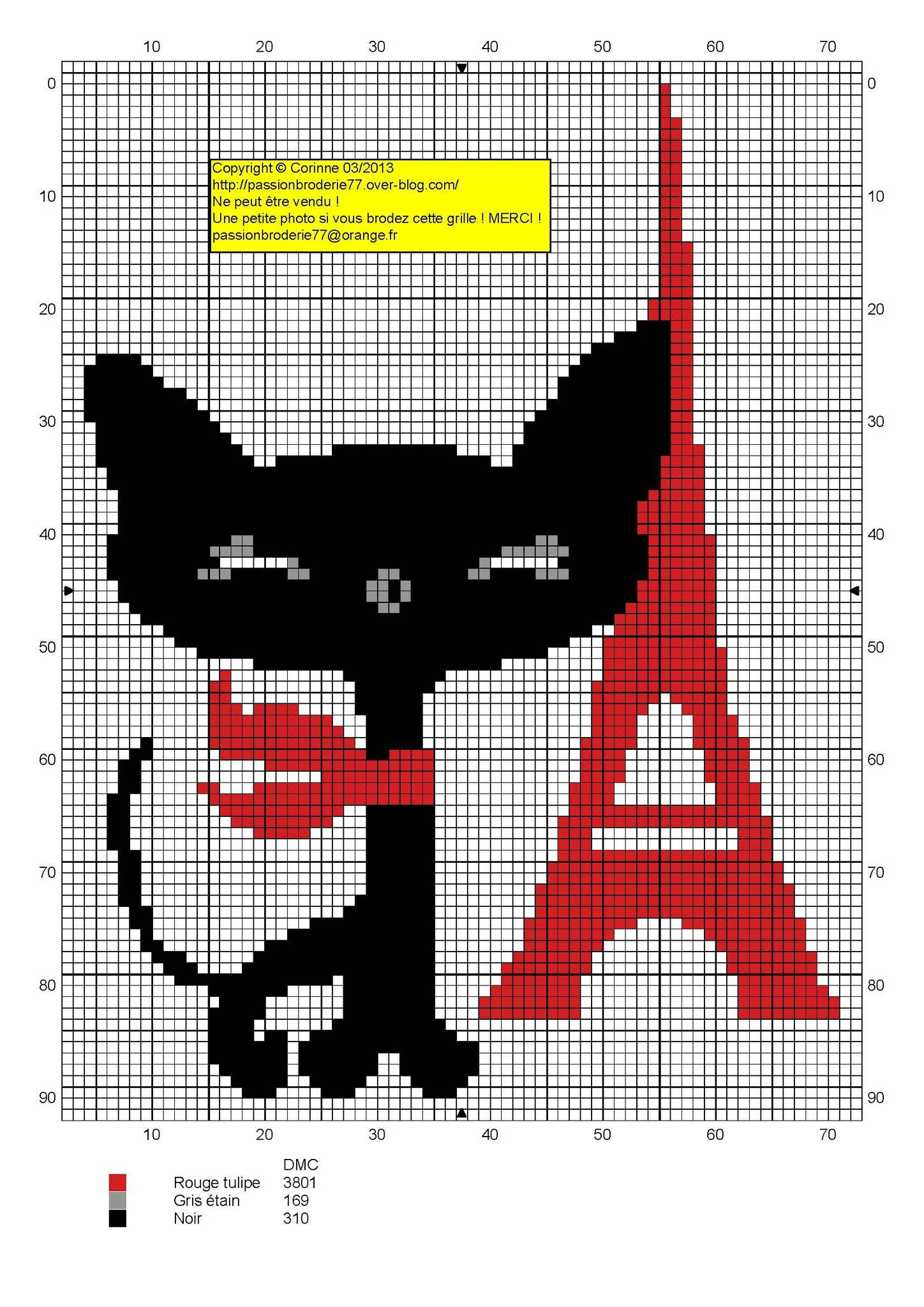 Chat tour eiffel