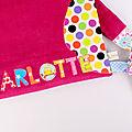 Sac maternelle personnalisable couleurs prénom Charlotte sac à dos hibou personnalisé fille école maternelle bébé crèche rose fuchsia multicolores owl kids backpack personalized name