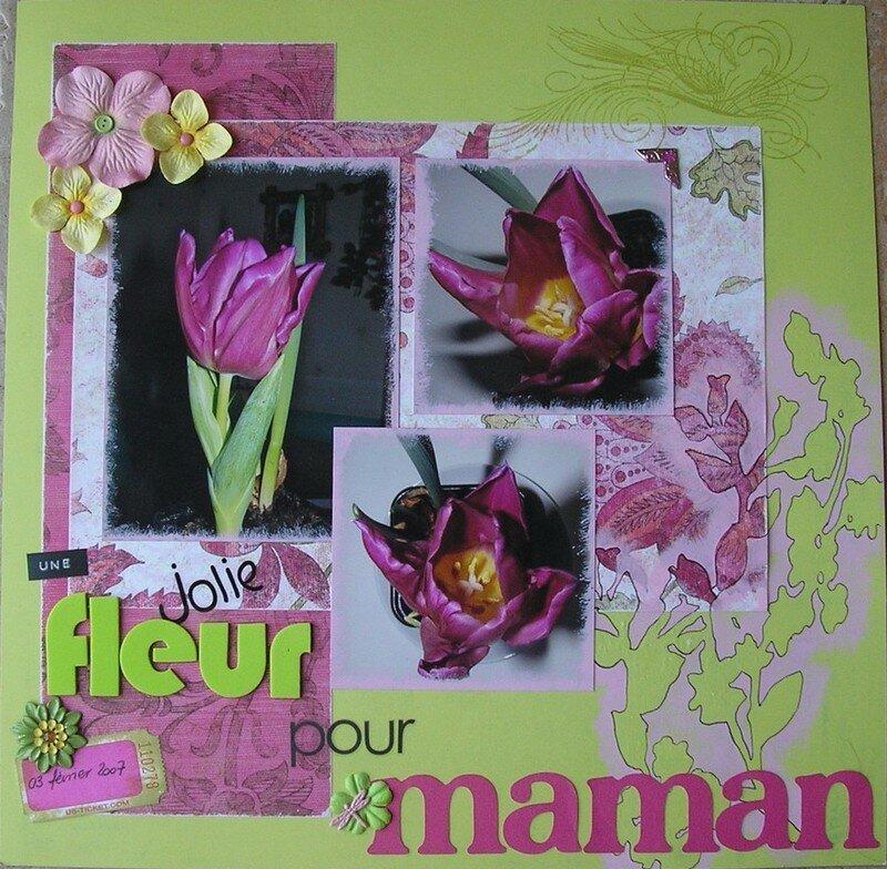 une jolie fleur pour maman