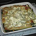 Lasagnes aux épinards, saumon et chèvre frais
