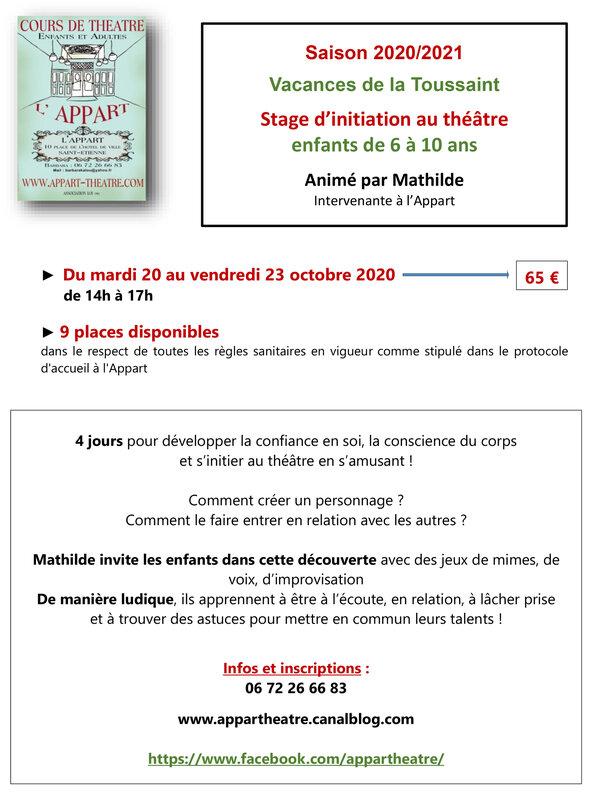 Stage initiation théâtre_Mathilde