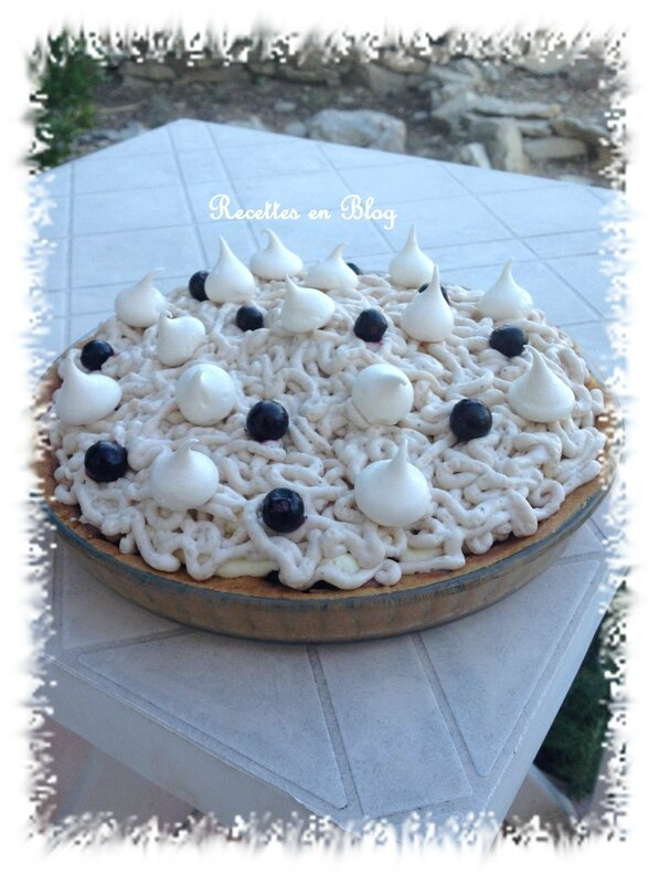 tarte marron myrtilles a