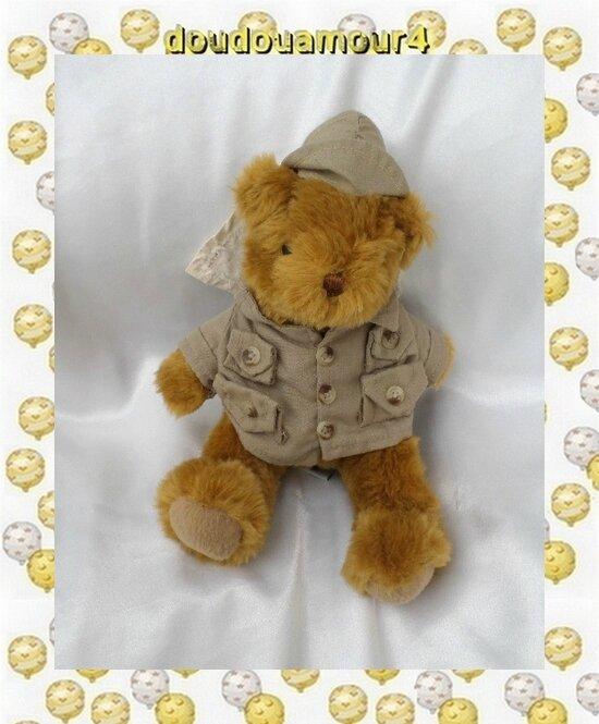 Peluche Doudou Ours Edmund L'Explorateur The Teddy Bear Collection