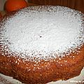 Gâteau au jus d'orange.