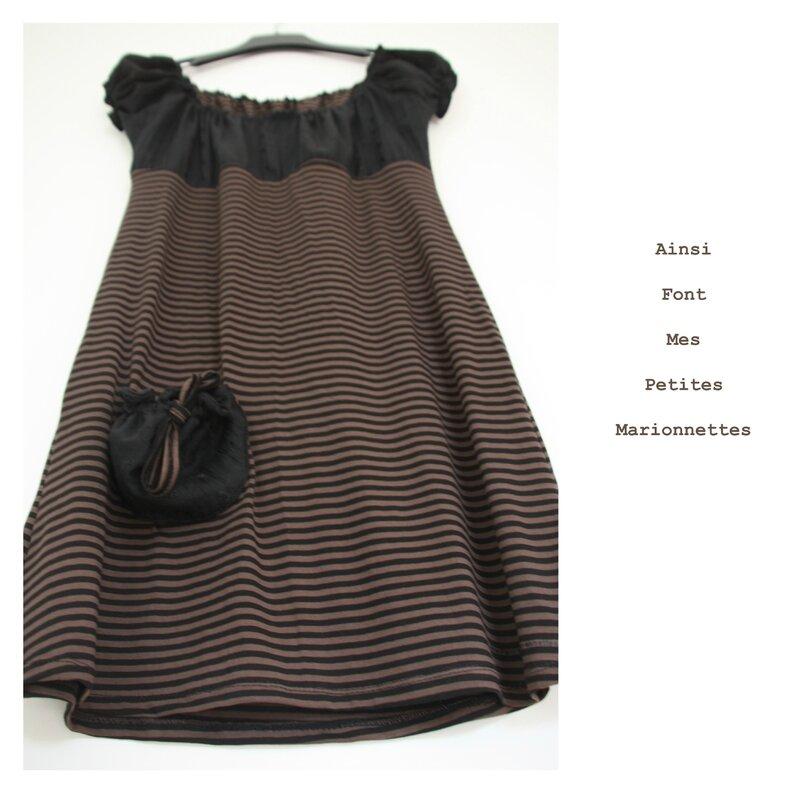 robe elastiquee noire marron 4