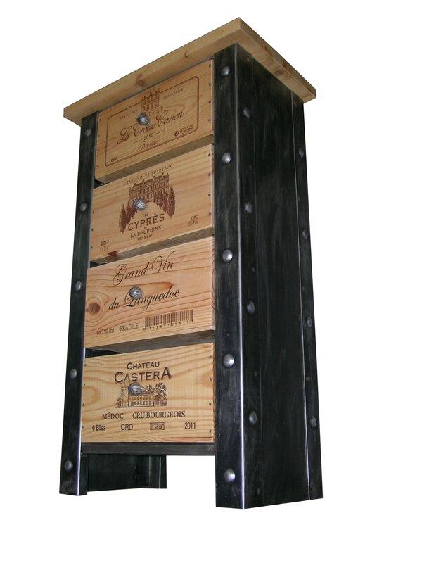 meuble stockage bouteille, meuble de créateur, meuble de cave, meuble tiroir caisse de vin, douelledereve