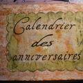 calendrier des anniversaires