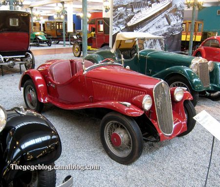 Fiat 508 S roadster de 1936 (Cité de l'Automobile Collection Schlumpf à Mulhouse) 01