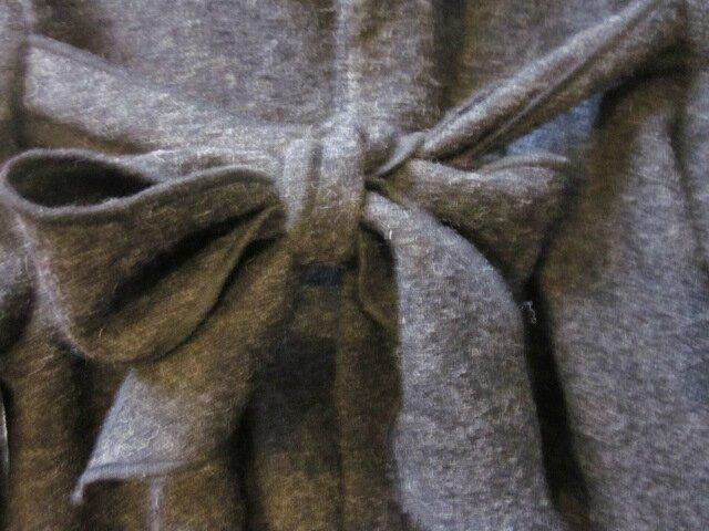Manteau AGLAE en laien bouillie gris anthracite chiné (2)
