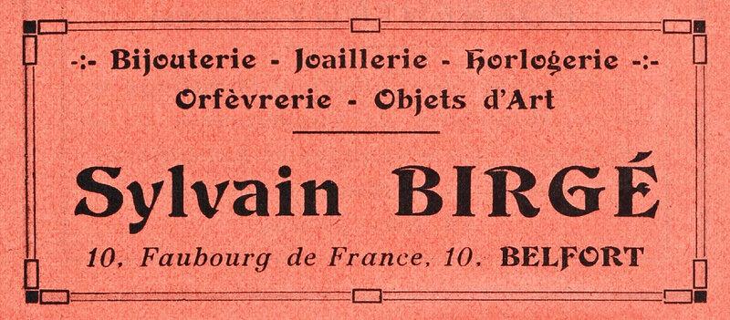 Publicité Bijoutier Sylvain Birgé BF