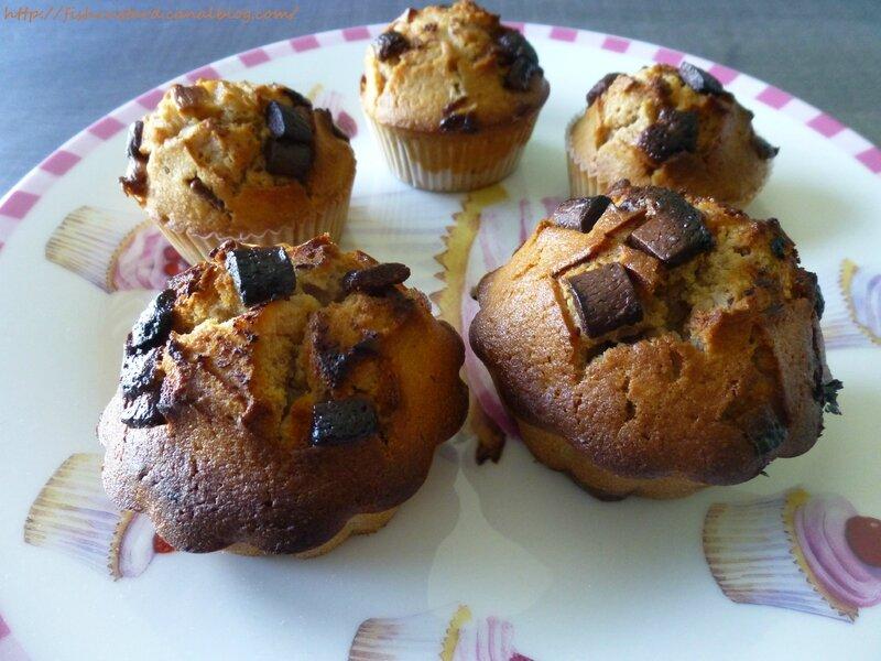 Muffins aux pépites de chocolat de Nigella Lawson (8)