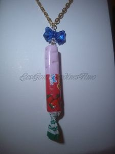 collier carambar fraise