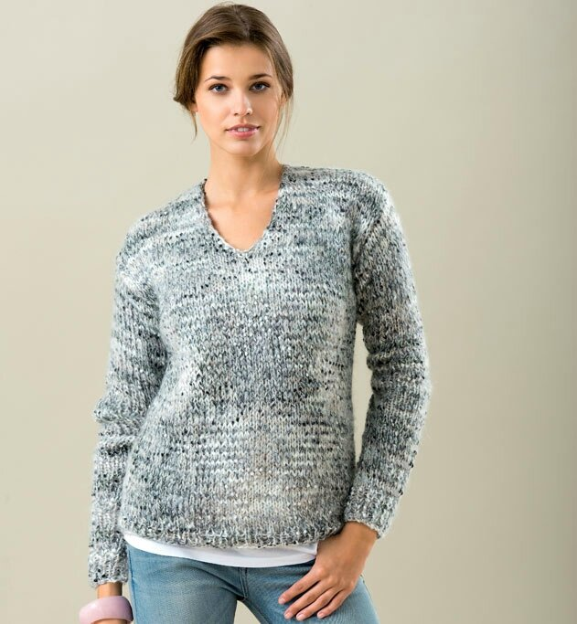 pull femme a tricoter modele