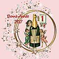 Carte de voeux (bonne année 2017) vintage