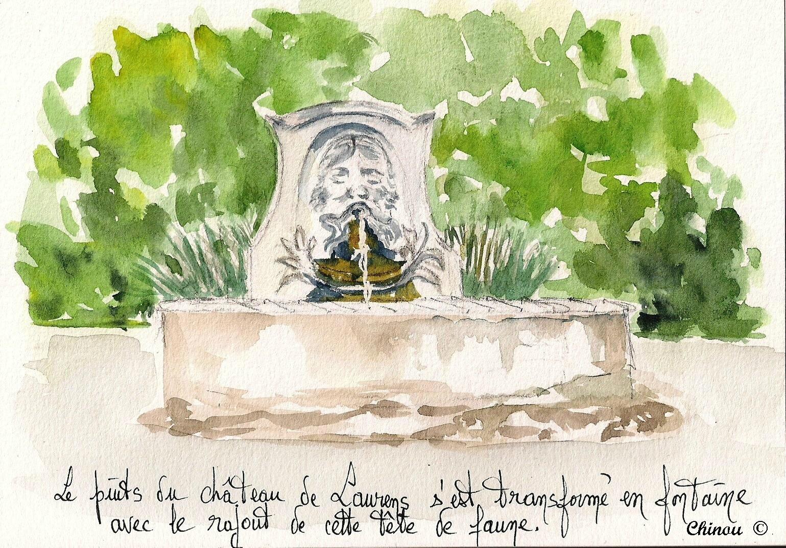 Fontaine au Faune Mairie de Laurens