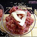 Salade de quinoa aux framboises et chocolat blanc