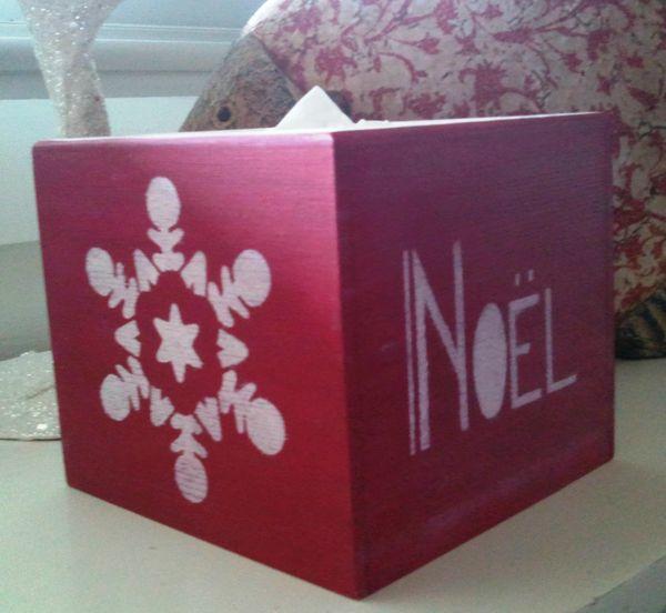 boite à mouchoirs Noël rouge