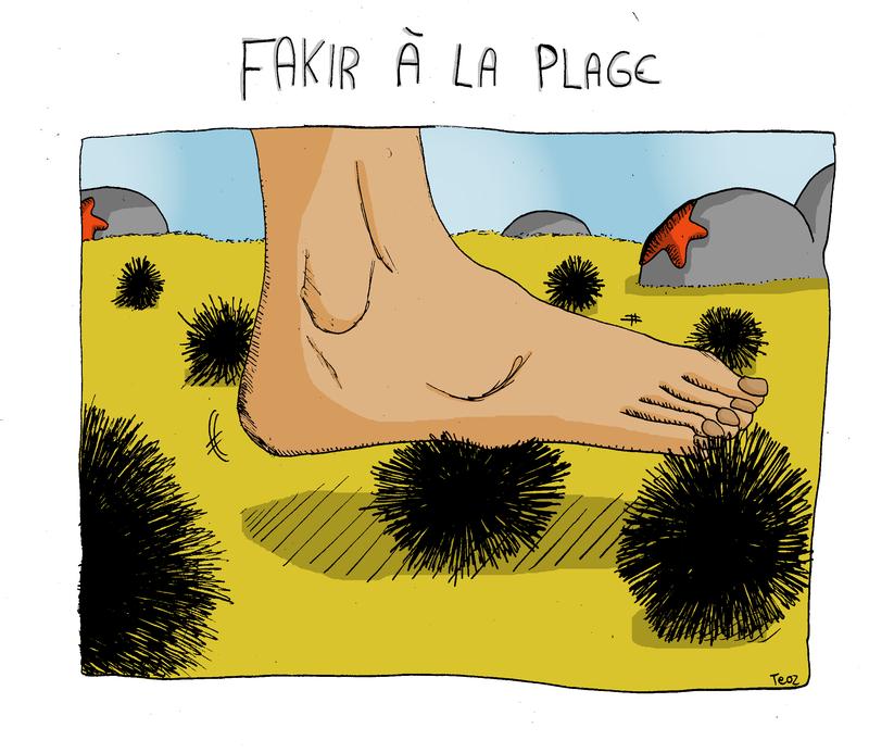 Fakir à la plage