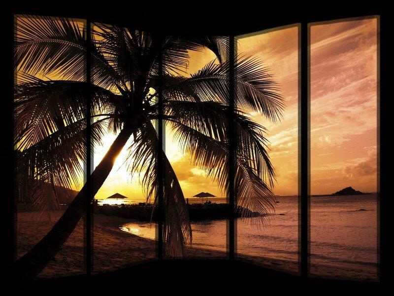 Fond coucher soleil