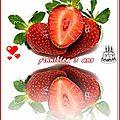 Salade de fruits fraises jus d'orange, menthe et sucre pétillant......