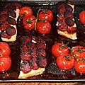 Paves de saumon en ecailles de chorizo