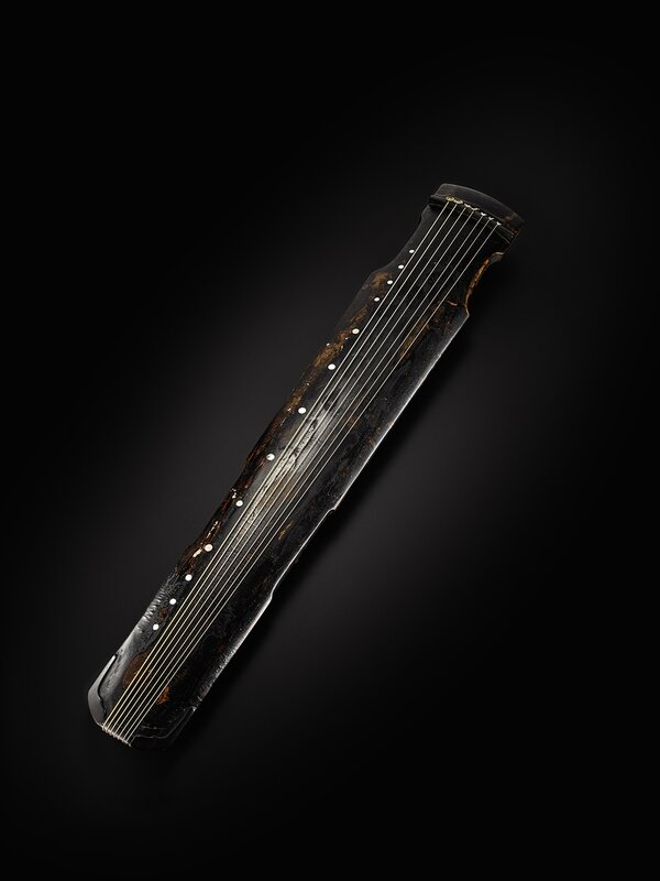 Lot 558_A RARE LAQUERED QIN QIN, SONG DYNASTY