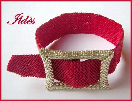 bracelet ceinture rouge 2