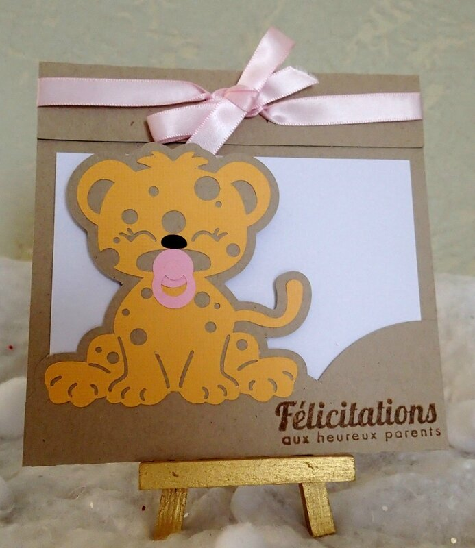 carte felicitations leopard fille 2