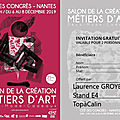 Invitation salon métiers d'art de nantes