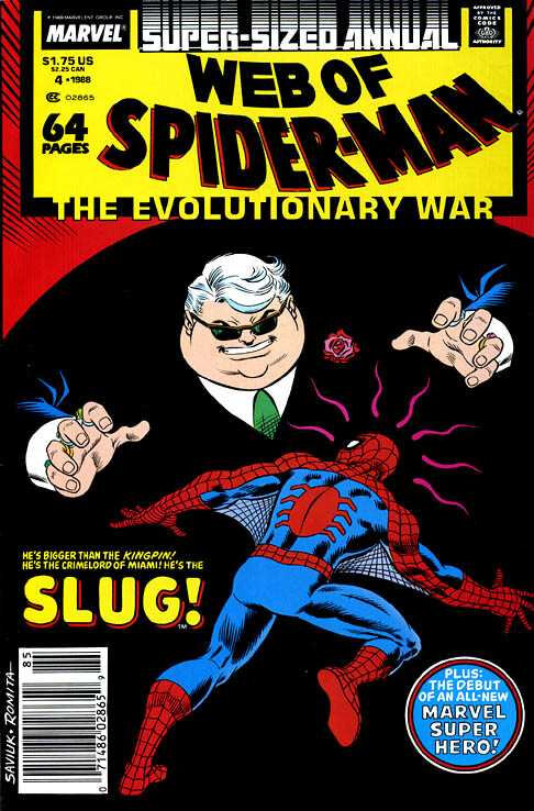 web of spiderman annual 04 1988 the evolutionary war