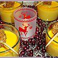 Veloute de carottes et boulettes de foie gras panees
