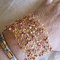 Bracelet en fil metal et perles