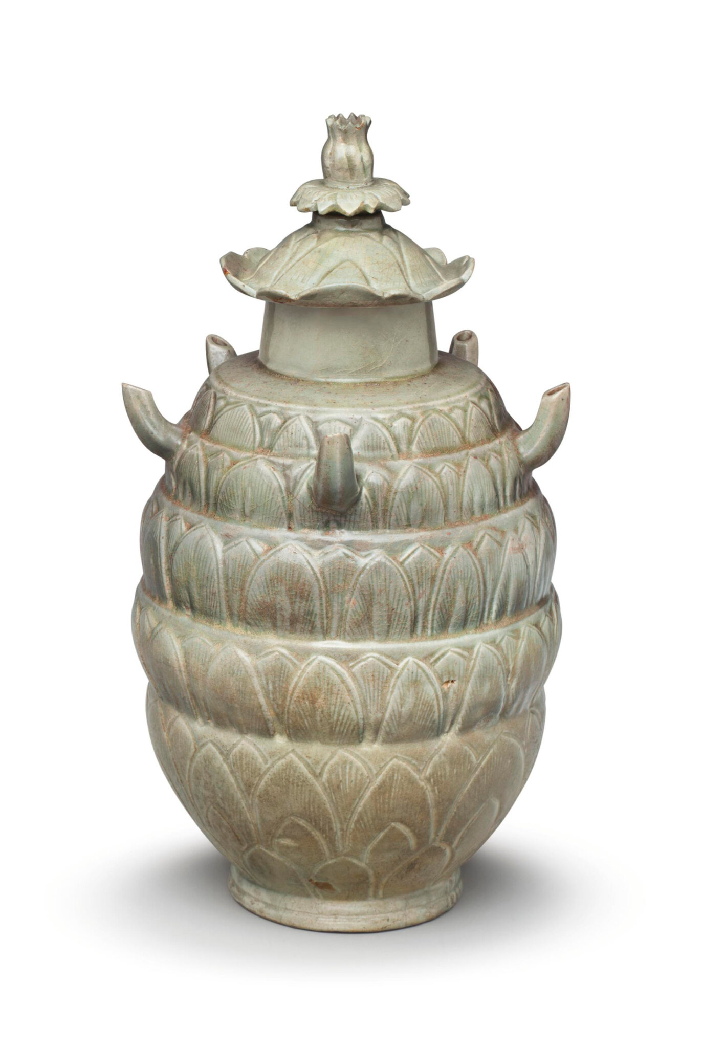 Longquan celadon carved jar and cover, Northern Song dynasty (960-1127)