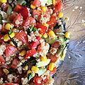 Salade d'été au quinoa et aux clémentines