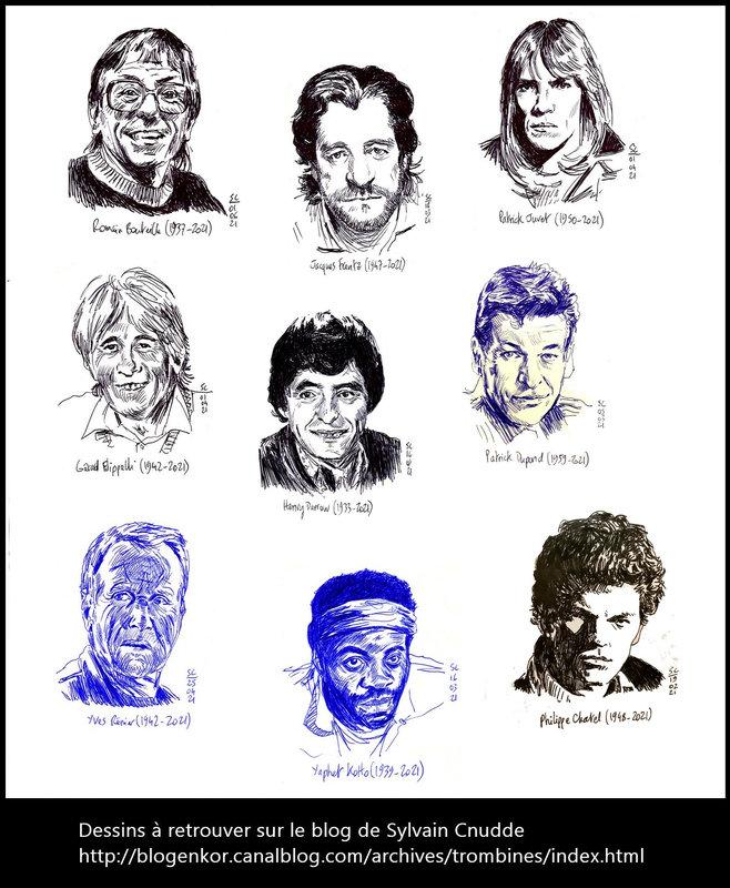 B - Quelques dessins de personnalités disparues