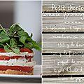 Petits cheesecakes à la tomate, fromage frais et basilic