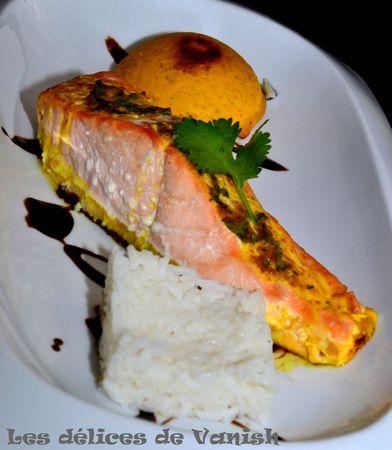 flan de carotte, saumon, beuure, vin blanc, plat