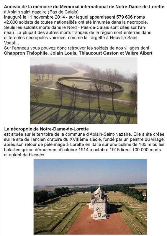 cunfin anneau de Mémoire Notre Dame de Lorette