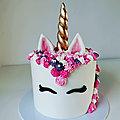 Gâteau licorne- unicorn cake