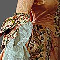 Detail sleeve, robe à la francaise, probably portugal, c. 1720