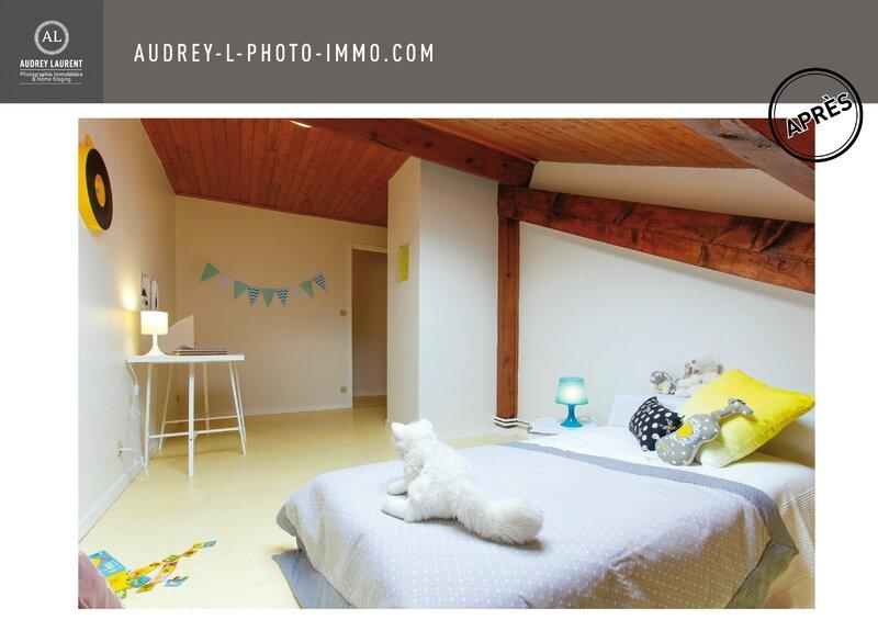 Home Staing à Grenoble avant/après pour une chambre d'enfant