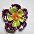 Fleur hippie en céramique