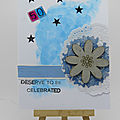 Carte d'anniversaire bleue - blue birthday card