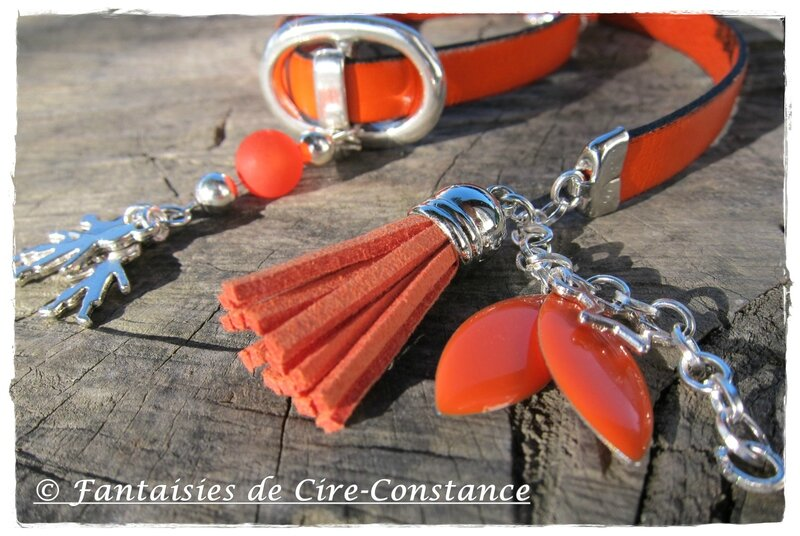 Bracelet Love Family orange-2